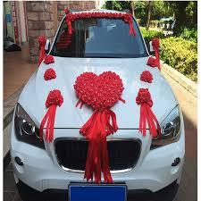 car ribbon 2017 new ribbon bowknot pe flower wedding car flower