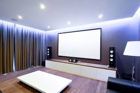 home cinema media room these curtain panels to cover the walls