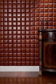 leather walls faux leather tiles for stylish creative wall decors freshome com