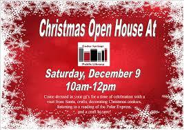 open house visit santa craft bazaar