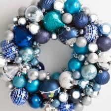 heirloom bauble wreath blue silver wreaths direct