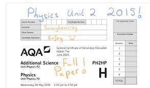 gcse physics 2016 aqa unit 2 full paper ph2hp june