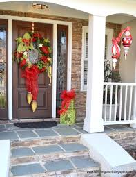 outside home decor ideas front porch christmas decorating ideas country garland with