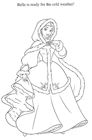 princess belle coloring sheets pages disney princesses colouring