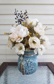 flower arrangements for home decor spring flower arrangement home decor center piece white flowers