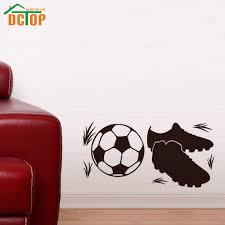 childrens football wall stickers sticker creations wall sticker kids football goals promotion for promotional compare prices on kids football room online ping low