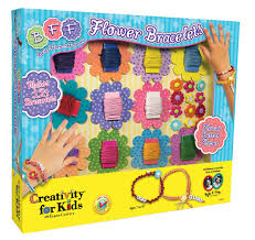 amazon com creativity for kids kit bff flower bracelets toys u0026 games