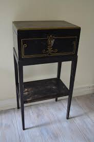 antique hand painted swedish side table with chest for sale at pamono