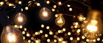 Light Bulb String Outdoor Bistro Light Strings