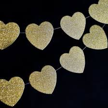 gold glitter shaped paper garland banner 10ft on sale now