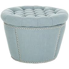 Amazon Com Safavieh Mercer Collection by Amazon Com Safavieh Mercer Collection Emma Light Blue Tufted