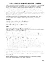 sle resume summary statements about achievements for resume summary of achievements resume exles exles of resumes