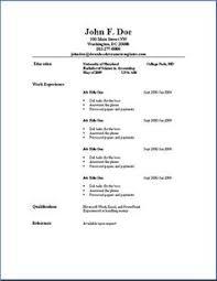 printable resume exles printable resume template simple exles impression gallery