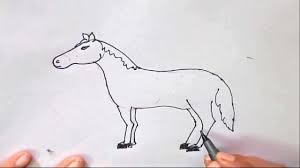 how to draw a horse in easy steps for children kids beginners