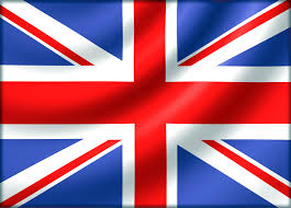 British Flag With Red Remix Of