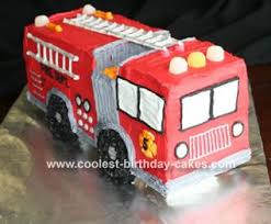 firetruck cakes cool 3d truck cake with doughnut wheels