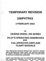 poh cessna caravan 208 675 hp takeoff flap aeronautics