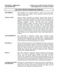 truck driver job description for resume unforgettable truck