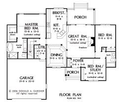Donald Gardner Floor Plans House Plan The Foxcroft By Donald A Gardner Architects