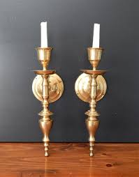 Candle Sconce 50 Brass Candle Sconces Pair Vintage Brass Wall Sconces Candle