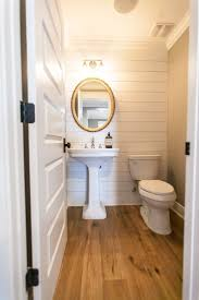 best 25 small powder rooms ideas on pinterest powder room powder room with planked walls and vintage gold mirror by rafterhouse
