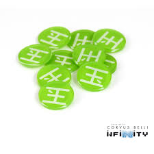 infinity number infinity the game full color faction markers order tokens acrylic