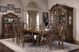 san mateo double pedestal table dining room set in brown by
