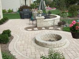 patio ideas with pavers backyard green plant decor for backyard patio combined with