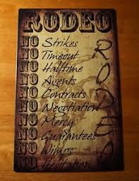 rodeo home decor rodeo rules no wimps no mercy bull riding cowboy country western