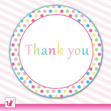 polka dots thank you tags labels colorful party favor kids