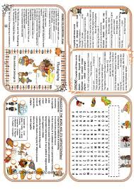 thanksgiving minibook esl worksheets of the day