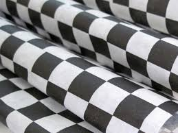 Black And White Checkered Wax Paper 25 Sheets Of Black And White Checkered Wax