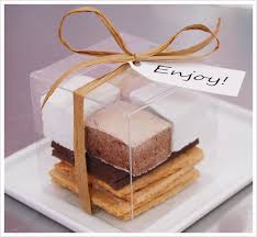 smores wedding favors cookie creatives gourmet s mores table