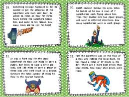 estimation word problems 4th grade 4th grade math word problem task cards remainders