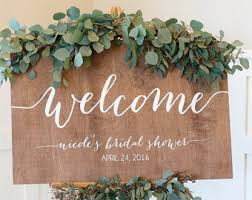 bridal shower signs bridal shower sign bridal shower welcome sign wood signs