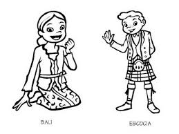 costumes bali and scotland coloring pages 826326 coloring pages