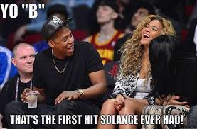 Jay Z Diving Meme - jumpoff tv top 20 memes of jayz vs solange while beyonce watches