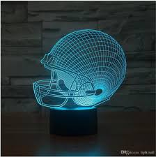 changing led football caps novelty 3d decor bulbing touch light