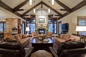 living room with vaulted ceilings decorating ideas