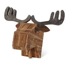 Moose Head Decor Faux Moose Head Wooden Moose Head Fake Moose Head Moose