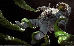 tomas kral dark sci fi horror astronaut monsters creatures aliens
