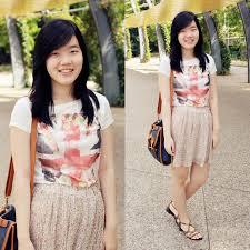 Uk Flag Dress Bernice Angelica Sy Zara Uk Flag Shirt Thrifted Floral Skirt