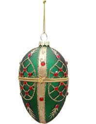 faberge egg ornament 4 inch green marketplace