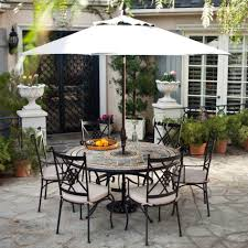 Patio Table And Chair Sets Patio Table And Chair Set With Umbrella Icamblog Round Also Of