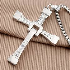 cross pendant necklace silver images The fast and furious 8 vin diesel dominic toretto real 925 jpg