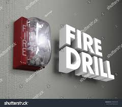fire drill words 3d letters light stock illustration 335854979