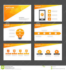 abstract orange yellow infographic element and icon presentation