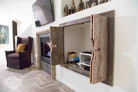 Custom Wood Cabinet Doors by Custom Bi Fold Entertainment Cabinet Doors Porter Barn Wood
