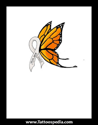 lung cancer butterfly design pinteres