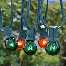 50 c9 green globe string lights green wire